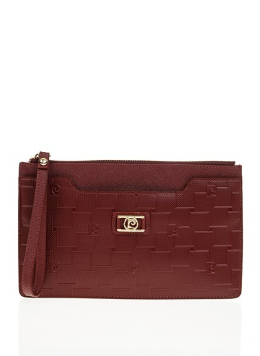 Pierre Cardin Clutch / El Çantası Bordo